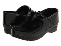 Sanita Professional Patent Black Patent Women's Clog Shoes
