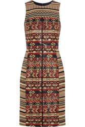 J.Crew Akola Metallic Tweed Dress Red