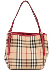 Burberry 'Horseferry Check' Tote Nude And Neutrals