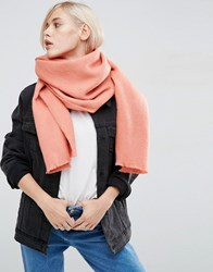 Asos Supersoft Long Woven Scarf Coral Pink