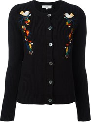 Vanessa Bruno Athe Embroidered Details Cardigan Black