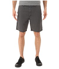 John Varvatos Triple Needle Shorts W Patch And Flap Pockets S131s1b Coal Men's Shorts Gray