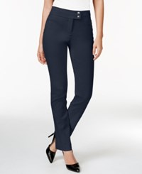 Styleandco. Style And Co. Slim Leg Tummy Control Pants Industrial Blue