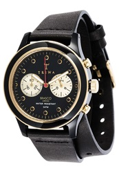 Triwa Ebony Twist Chronograph Watch Black