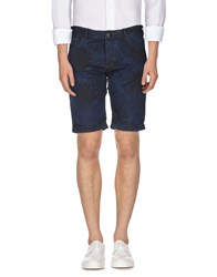 Armani Jeans Trousers Bermuda Shorts Men Dark Blue