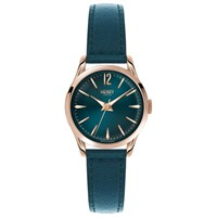 Henry London Hl25 S 0128 Women's Stratford Leather Strap Watch Teal