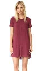Current Elliott The Frayed Edge Shift Dress Dorothy Check