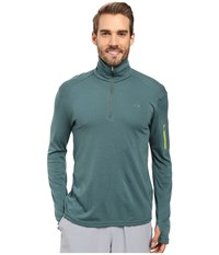 Icebreaker Apex Long Sleeve Half Zip Canoe Canoe Cactus Men's Clothing Green