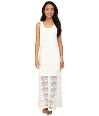 Karen Kane Crochet Maxi Dress Off White Women's Dress Beige