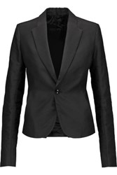 Rick Owens Cotton Blend Faille Blazer Black