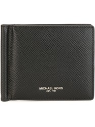 Michael Kors Gold Tone Logo Wallet Black