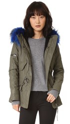 Sam. Mini Hudson Parka Army Blue