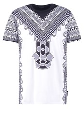 Jaded London Hamsa Print Tshirt Black