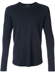 Wings Horns Longsleeved T Shirt Blue