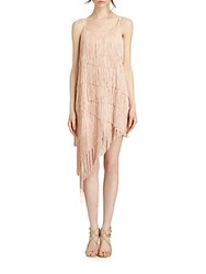 Abs By Allen Schwartz Embellished Lace Cocktail Dress Nude