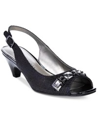 Karen Scott Analese Pumps Only At Macy's Women's Shoes Black Lizard