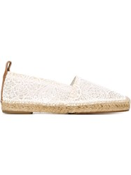Chloa 'Isa' Embroidered Espadrilles White