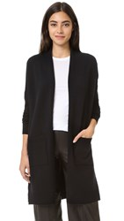 Vince Side Slit Cardigan Black