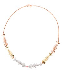 Kamushki Six Piece 18K Gold Diamond And Sapphire Necklace Rose Gold Blue Pink Yellow White Gold