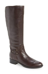 Women's Geox 'Felicity' Adjustable Shaft Tall Riding Boot Coffee Smooth Leather