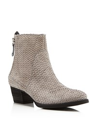 Paul Green Dory Textured Mid Heel Booties Grey Silver