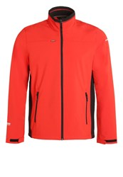 Icepeak Silver Soft Shell Jacket Coral Red