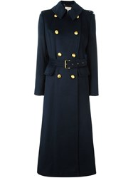 Michael Michael Kors Military Long Coat Blue