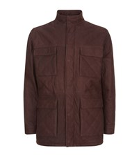 Peter Millar Matterhorn Nubuck Field Jacket Male Brown