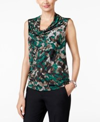 Kasper Printed Shell Evergreen