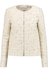 Valentino Roma Wool Blend Boucle Jacket White