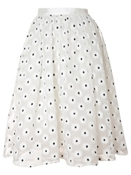 True Decadence Mesh Midi Skirt White