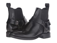 Frye Stone Harness Chelsea Black Smooth Pull Up Men's Pull On Boots