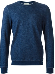 Oliver Spencer Crew Neck Sweatshirt Blue