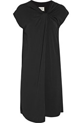Maison Martin Margiela Maison Margiela Twist Front Crepe Dress Black