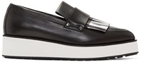 Mcq By Alexander Mcqueen Black Fringed Manor Loafers
