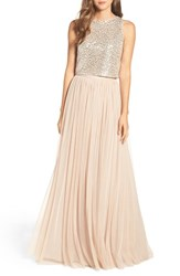 Adrianna Papell Women's Sequin Two Piece Gown