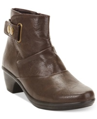 Easy Street Shoes Easy Street Wynne Booties Women's Shoes Brown