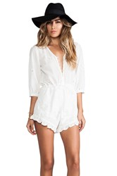 Spell And The Gypsy Collective Indian Summer Playsuit White