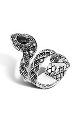 John Hardy Women's 'Legends' Diamond And Sapphire Double Coil Ring