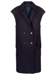 Jaeger Astrakhan Collar Gilet Midnight