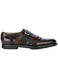Church's Kilties Detail Monk Shoes Brown