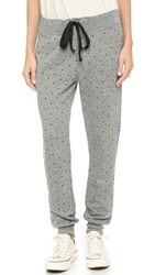 Current Elliott The Vintage Sweatpants Heather Grey Mini Polka Stars