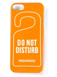 Dsquared2 'Do Not Disturb' Iphone 5 Case Yellow And Orange