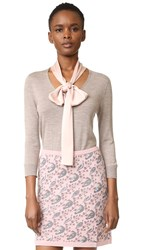 Tak. Ori Long Sleeve Tie Neck Sweater Beige