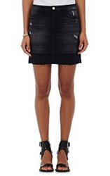 J Brand Women's Denim Leila Miniskirt Colorless