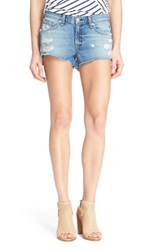 Rag And Bone Women's Rag And Bone Jean Destroyed Cutoff Denim Shorts Gunner