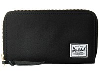 Herschel Thomas With Zipper Black Wallet Handbags
