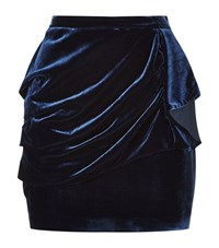 Pinko Fandango Draped Velvet Skirt Female Midnight