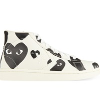 Comme Des Garcons Converse High Top Trainers Black Heart