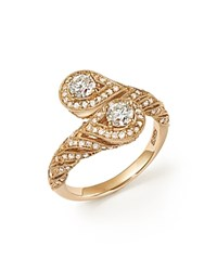 Bloomingdale's Diamond Two Stone Bypass Ring In 14K Yellow Gold 1.0 Ct. T.W. White Gold